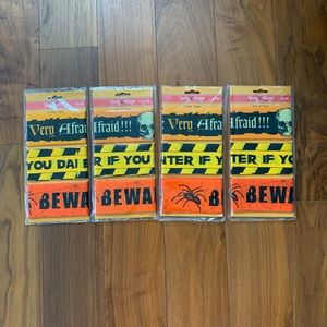 Halloween Fright Tape Bundle of 4 New In Package